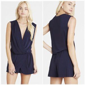 BCBGeneration Sleeveless Surplice Skort Romper